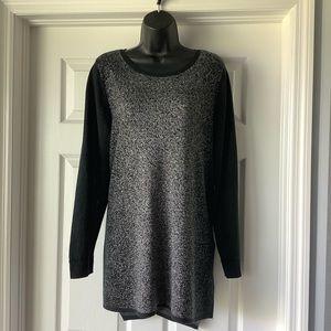 Beautiful APT. 9 black and silver tunic sweater